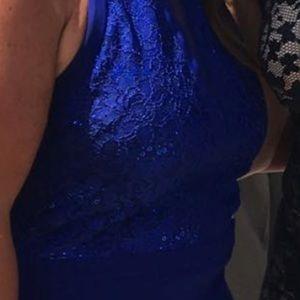Royal Blue Detailed Dress